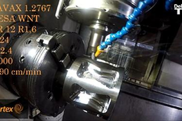 FeatureCAM Vortex 旋風高效率粗加工在 Mazak Integrex 機台切削