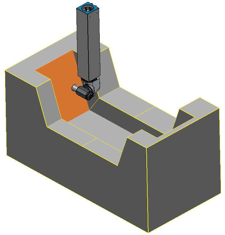 PowerMILL 3軸 萬象頭斜面加工