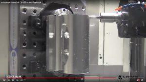 Autodesk PowerMill Okuma 4-axis Turn-Mill
