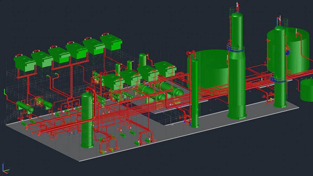 AutoCAD 隨附 Plant 3D 工具集