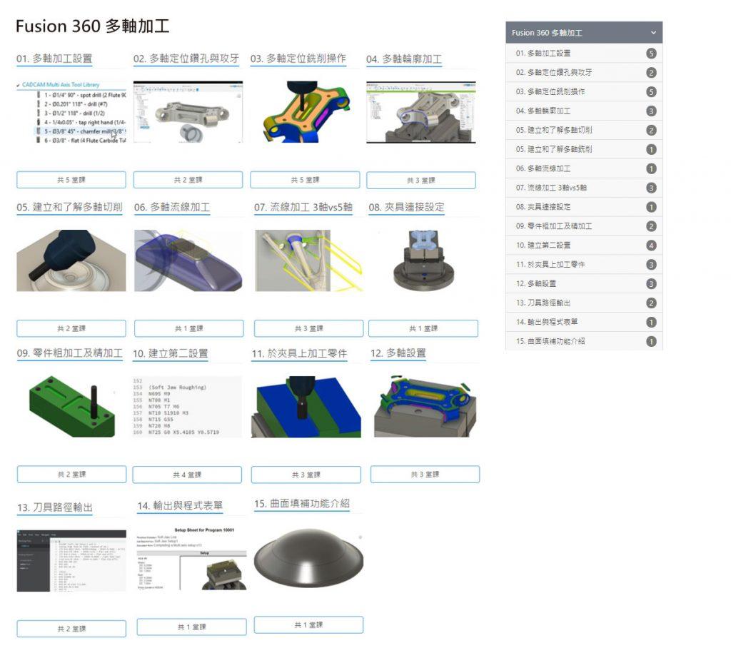 Fusion 360 多軸銑床編程雲端學習